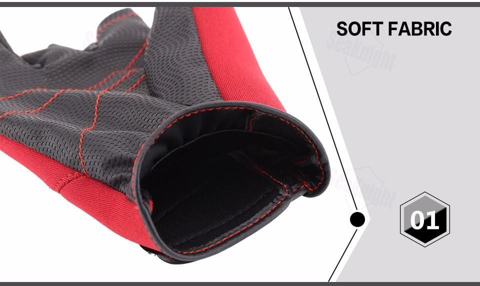 Neoprene fishing gloves.