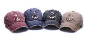 Get your anchor baseball caps in several different colours.