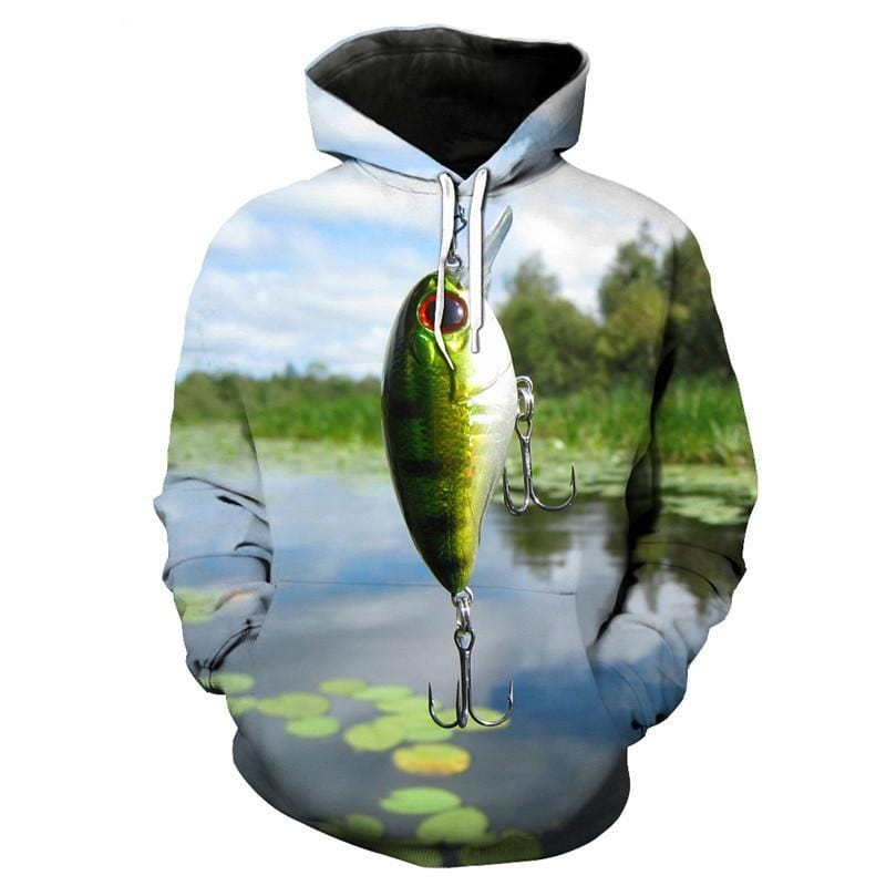 Crankbait Lure Fishing Shirt with Hood.