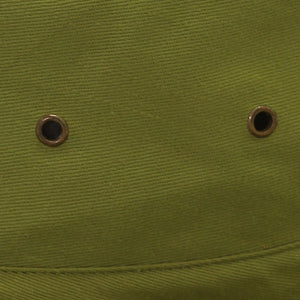 Air holes on green cork hat in Australia.
