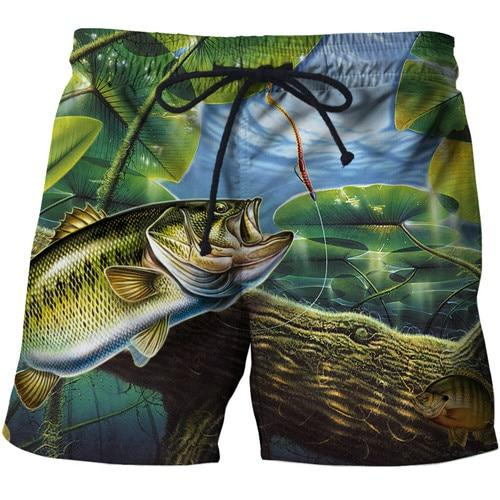 Cool 3D graphic designed fishing shorts available at Guts fishing Apparel.