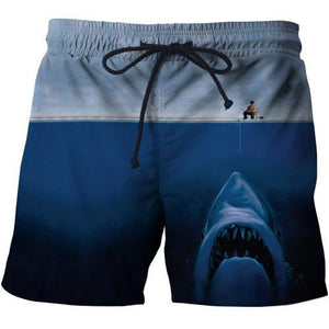 3D Fishing Shorts Jaws