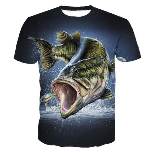 Fish chasing lure on 3D t-shirt