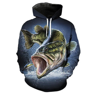 Largemouth Bass Fishing Hoodie