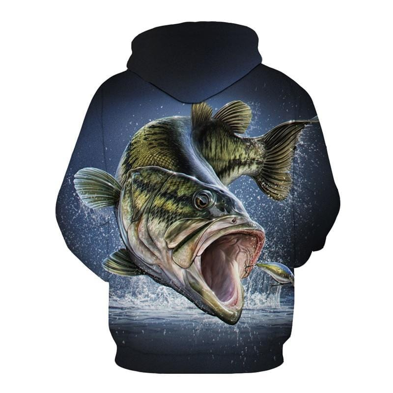 Cool Chase Largemouth Bass Fishing Hooded Jumper.