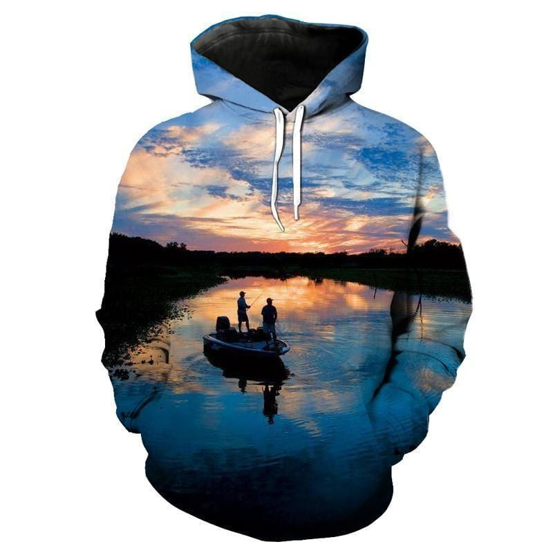 Clear Lake Fishing Hoodie