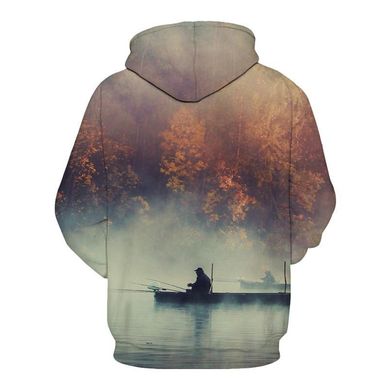 Fishing Hoodie - Maple Lake