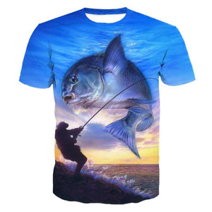 Big Catch Dream Angler 3D Graphic creative fishing t-shirt