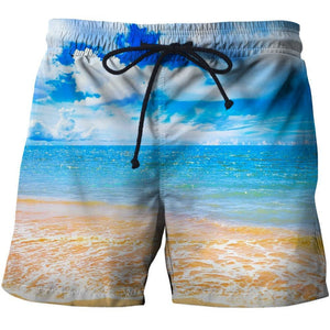 Men's 3D Graphic Print Beach Shorts