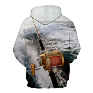 Guts Fishing Apparel - 3D Graphic Print Big Game Fishing Hoodie