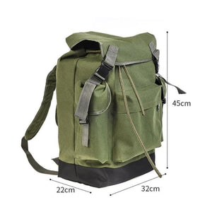 Guts Fishing Apparel - Army Green Canvas Fishing Backpack