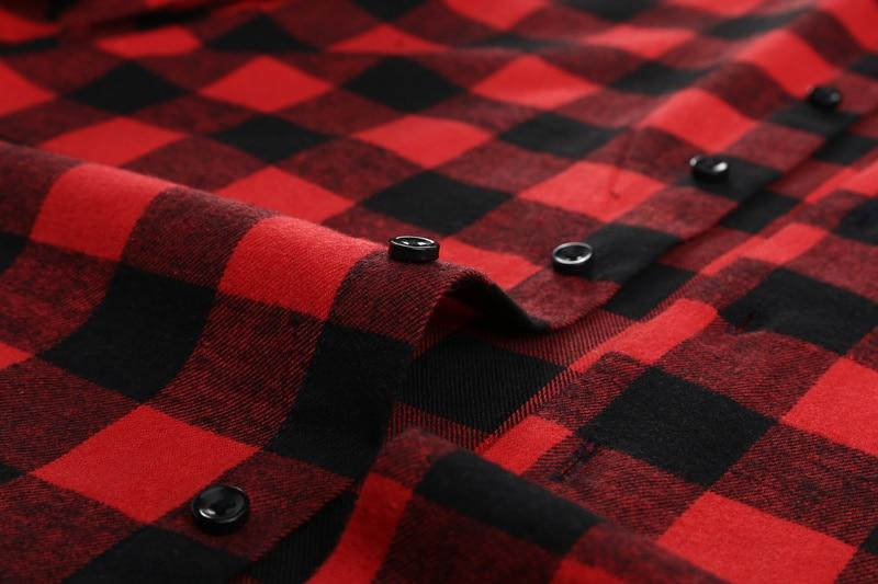 Red Flannelette Shirt made with good quality midweight fabric.