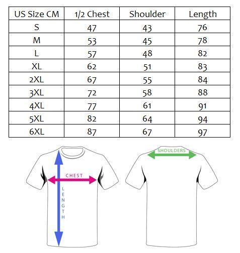 Fish Shirt Size Guide