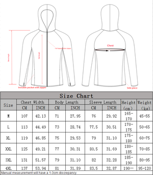Size Guide Fishing Life Fishing Shirt Guts Fishing Apparel
