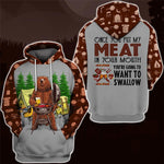 Swallow My Meat Hoodie & T-Shirt Guts Fishing Apparel