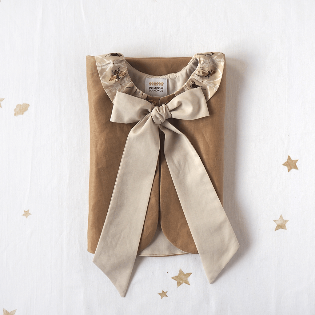 Linen Capelet in fawn