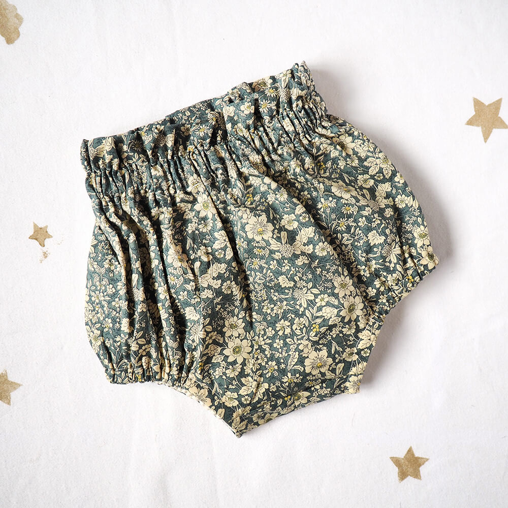 Teal Floral Bloomers