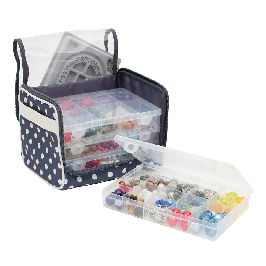 Everything Mary Bead Storage Locker with 4 Bead Organizer Boxes