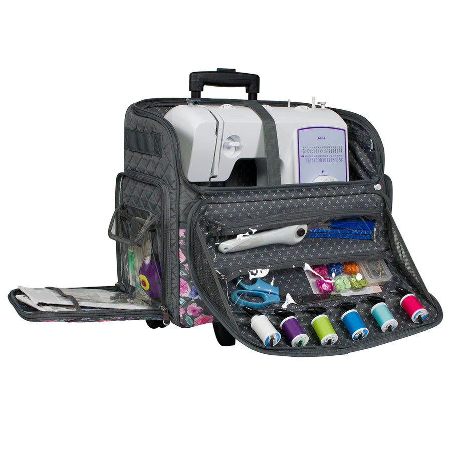 Deluxe Rolling Sewing Case, 2019 Floral