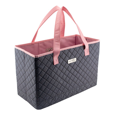 Sewing Machine Carry Tote, Pink & Grey