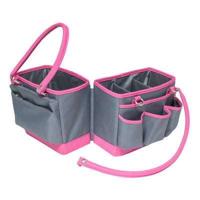 Fold-Open Organizer - Grey/Pink Trim