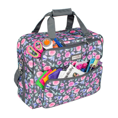 Deluxe Sewing Machine Carrying Tote, Floral