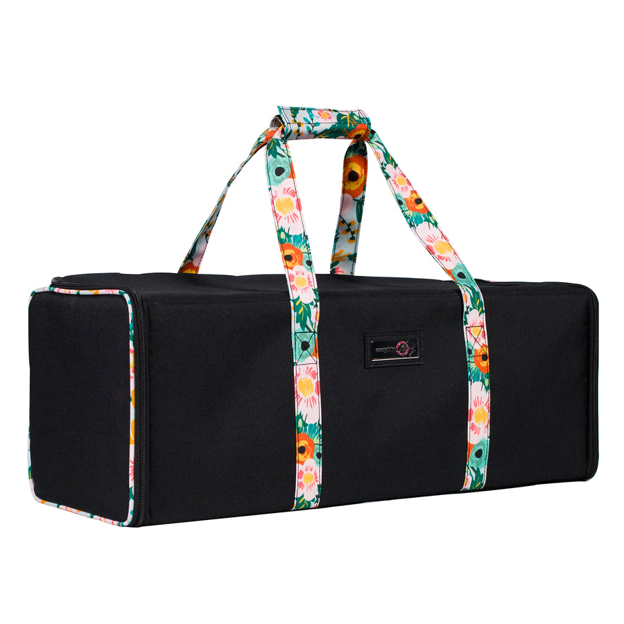 Die Cut Carrying Case for Cricut Explore & ScanNCut DX, Black & Floral
