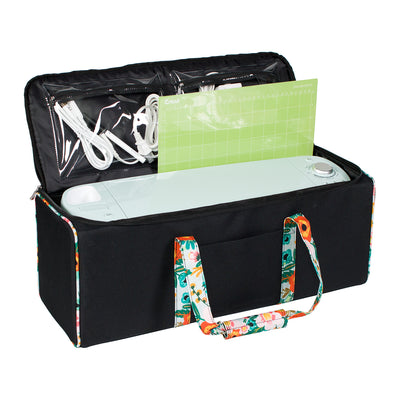 Die Cut Carrying Case for Cricut Explore & ScanNCut DX, 2019 Black & Floral