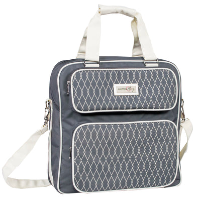Scrapbook Carrying Case, Grey & White