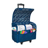 Collapsible Rolling Sewing Machine Case, Blue