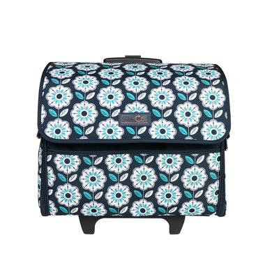 Collapsible Rolling Sewing Machine Case, Floral