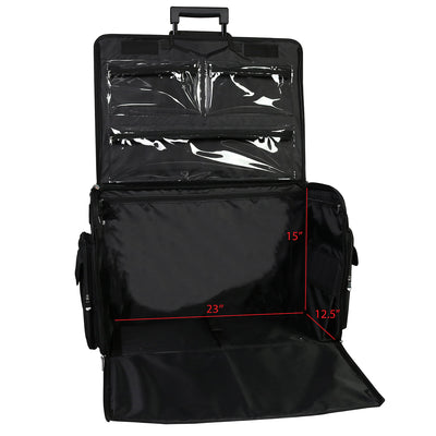 XL Deluxe Rolling Sewing Machine Case, Black Quilted