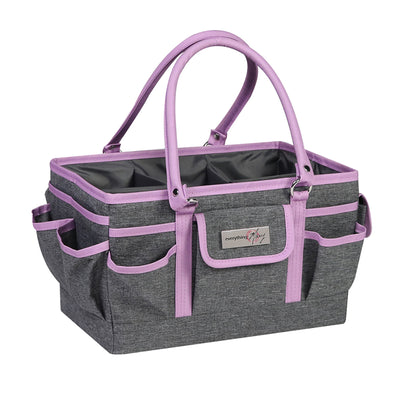 Collapsible Deluxe Store & Tote Craft Organizer, Purple Heather