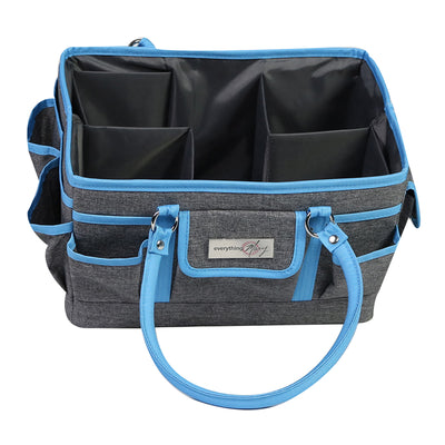 Collapsible Deluxe Store & Tote Craft Organizer, Blue Heather