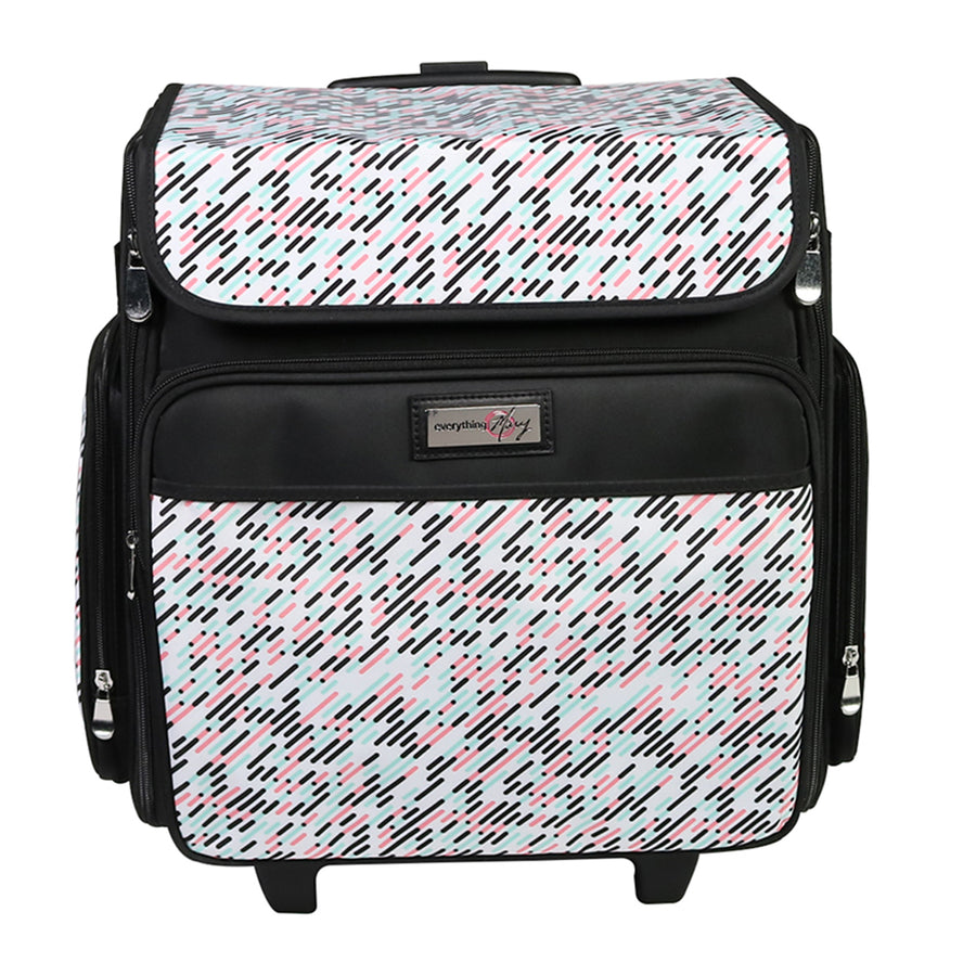Collapsible Rolling Scrapbooking Case, Pill Print