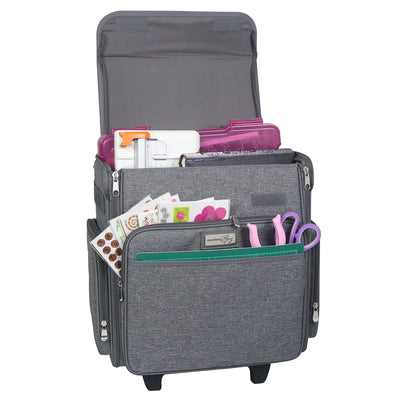 Collapsible Rolling Scrapbook Case, Heather