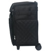 Collapsible Rolling Scrapbook Tote, Black Quilted