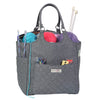 Everything Mary Deluxe Yarn Knitting Crochet Organizer Bag, Grey Heather