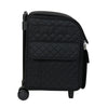 Collapsible Rolling Serger Machine Case, Black Quilted