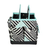 Everything Mary Collapsible Desktop Craft Caddy, Teal Geometric