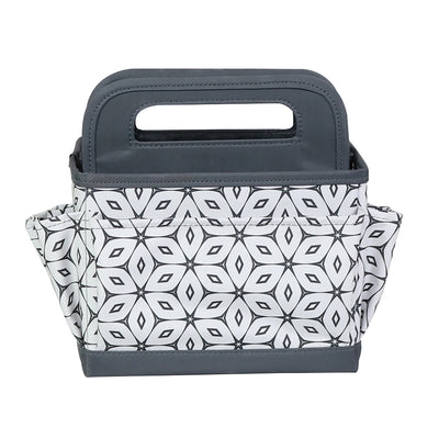 Everything Mary Collapsible Desktop Craft Caddy, Grey Geometric