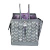 Everything Mary Collapsible Desktop Craft Caddy, Purple Flowers