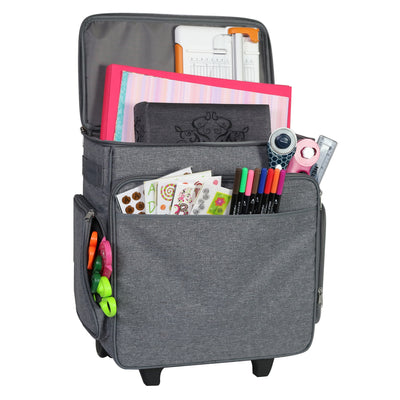 Everything Mary Rolling Craft Bag, Grey Heather