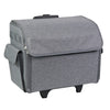 Everything Mary Sewing Machine Rolling Carrying Case, Grey Heather