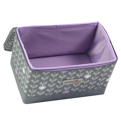 Everything Mary Collapsible Sewing Kit Organizer Box, Purple