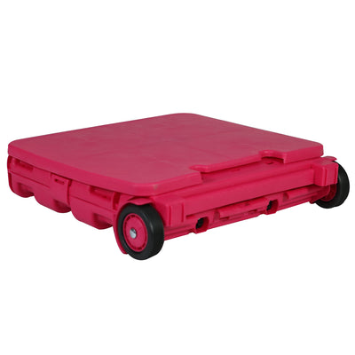 Everything Mary Plastic Collapsible Cart, Pink - Crate Tote for Shopping, Teachers, & School - Storage for Supplies, Art, and Tools