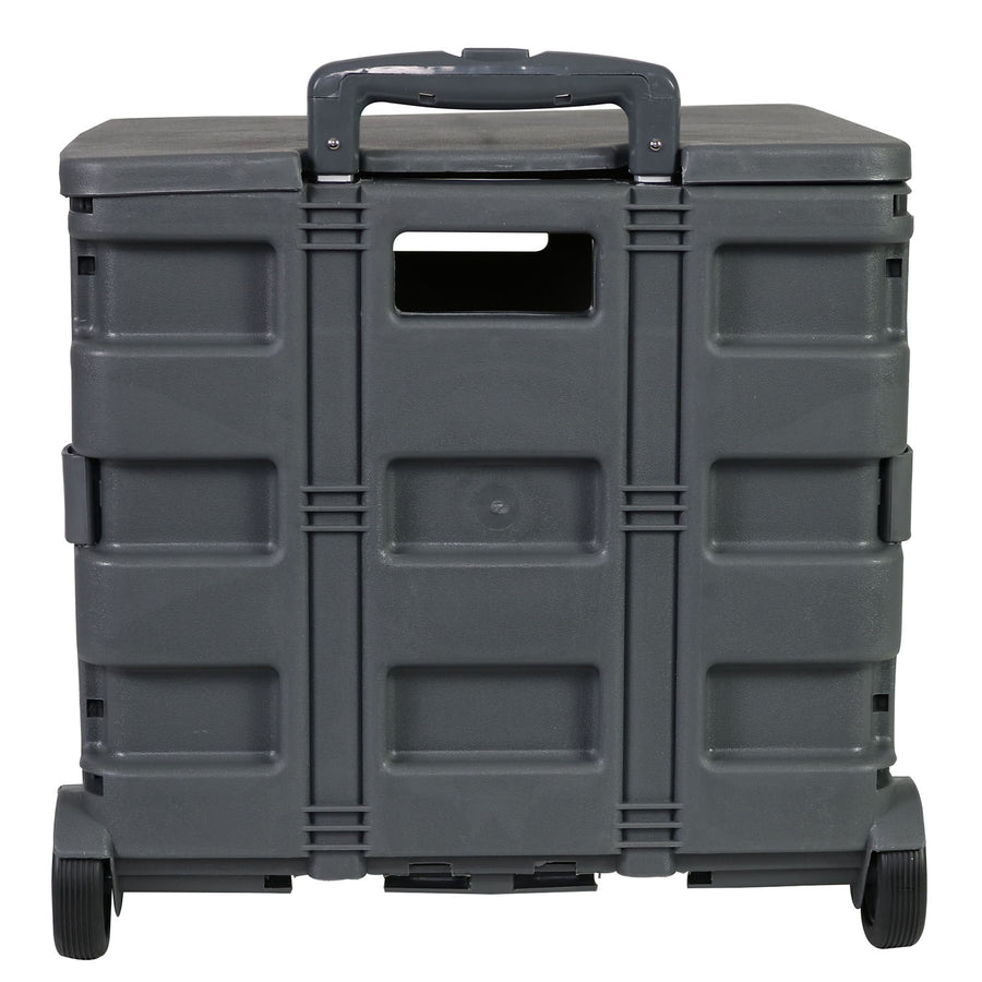 Everything Mary Plastic Collapsible Cart, Grey - Crate Tote for Shopping, Teachers, & School - Storage for Supplies, Art, and Tools