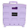 Everything Mary Plastic Collapsible Cart, Purple - Crate Tote for Shopping, Teachers, & School - Storage for Supplies, Art, and Tools