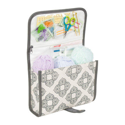 Deluxe Crocheting Storage Tote w/ Removable Leather Strap