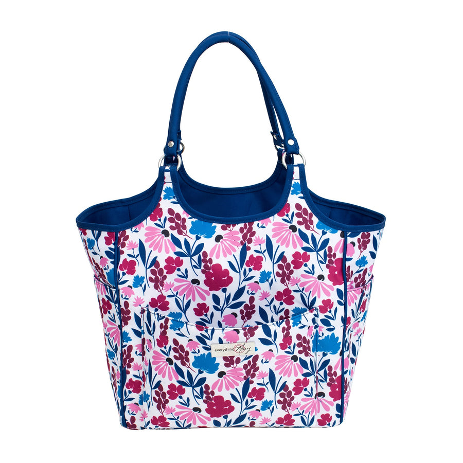 Deluxe Knitting Tote | Pink & Blue